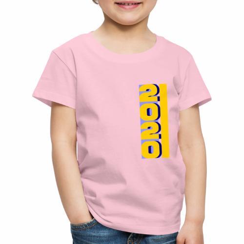 2020, vertical yellow blue - Kids' Premium T-Shirt