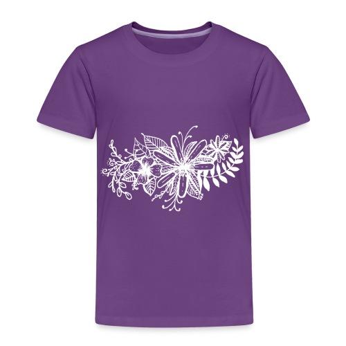 White Flower Artwork - Kids' Premium T-Shirt