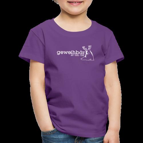 geweihbär - weiss - Kinder Premium T-Shirt