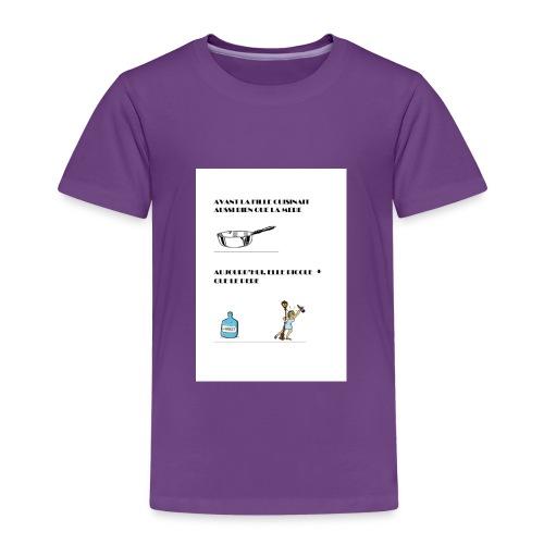 AVANT LA FILLE CUISINAIT AUSSI BIEN QUE LA MERE - T-shirt Premium Enfant