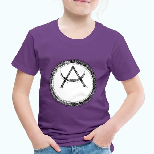 Mystic motif with sun and circle geometric - Kids' Premium T-Shirt