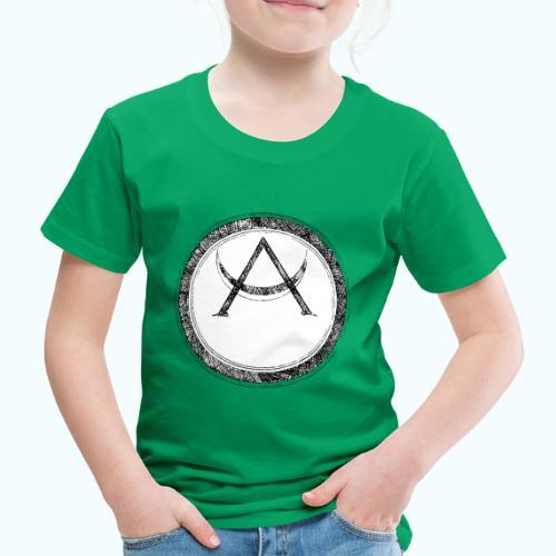 Mystic motif with sun and circle geometric - Kids' Premium T-Shirt