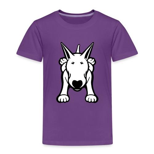 Bull Terrier Sprawl Design Tee - Kids' Premium T-Shirt