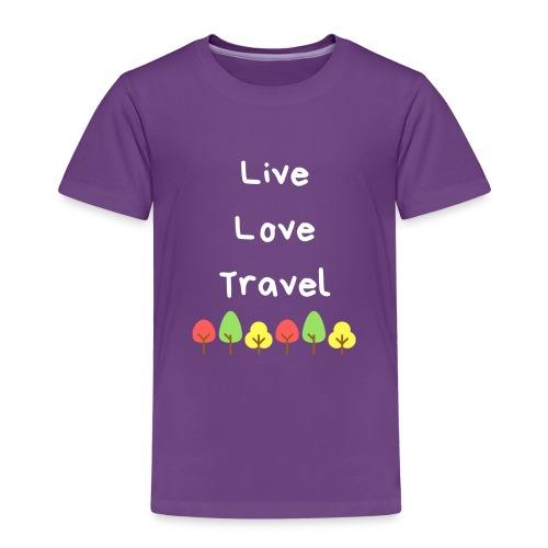 Live Love Travel weiss - Kinder Premium T-Shirt