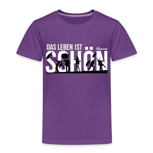 Design: Das Leben ist schön - Kinder Premium T-Shirt