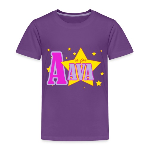 A IS FOR AVA png - Kids' Premium T-Shirt