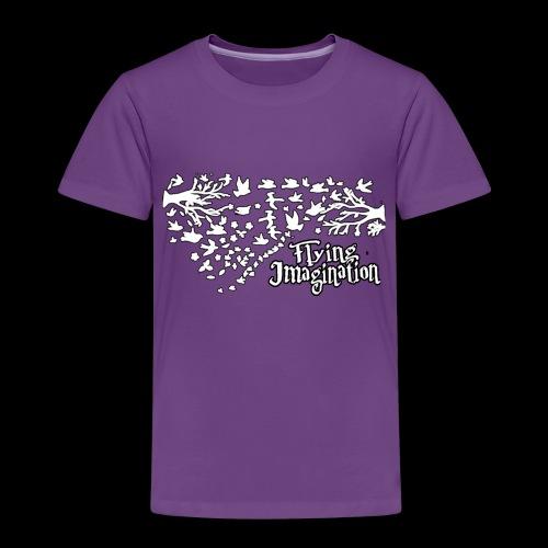 Flying imagination white - Camiseta premium niño