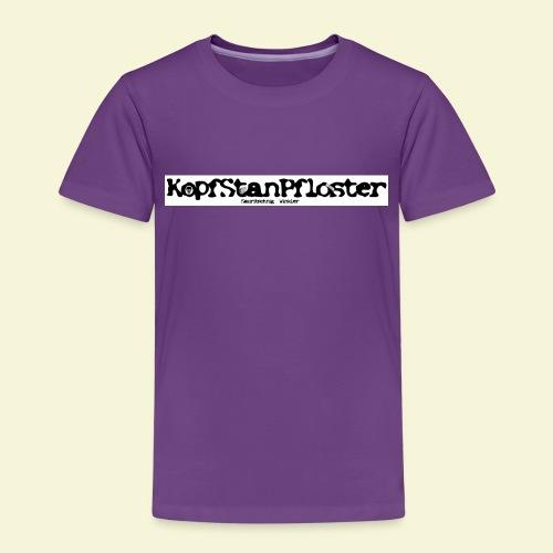 KopfStanPfloster Banner s w - Kinder Premium T-Shirt