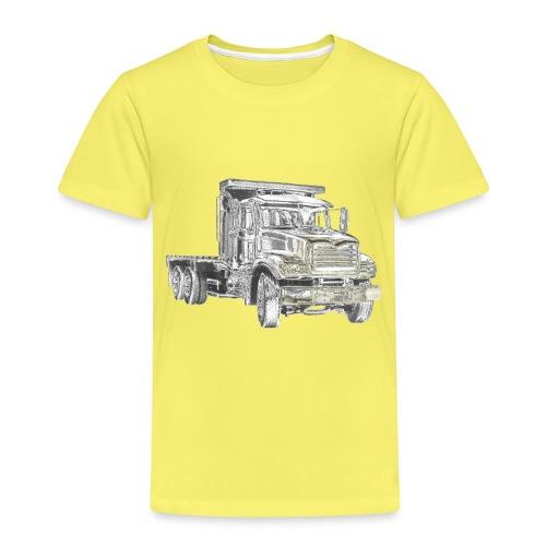 Flatbed Truck 3-axle - Kids' Premium T-Shirt