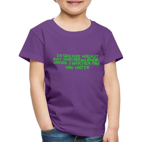 Graffiti: Oben und Unten - Kinder Premium T-Shirt