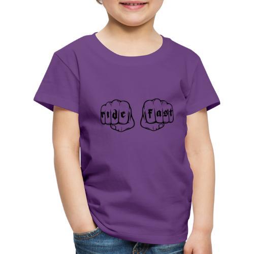 Ride fast puño - Camiseta premium niño