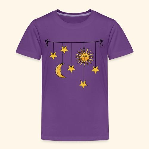 Sonne Mond und Sterne - Kinder Premium T-Shirt