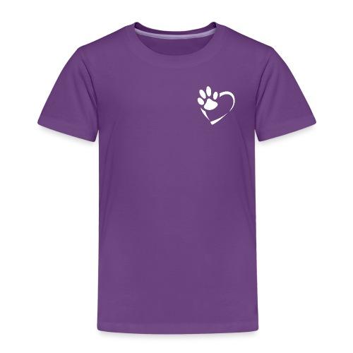 Pfote im Herz (weiß) - Kinder Premium T-Shirt