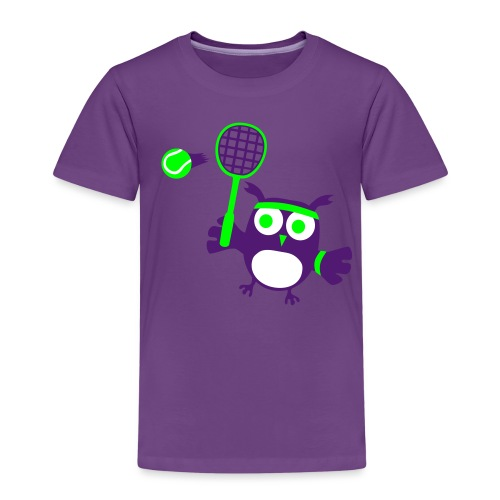 süße Eule Tennis Spieler Player Ball Familie - Kinder Premium T-Shirt
