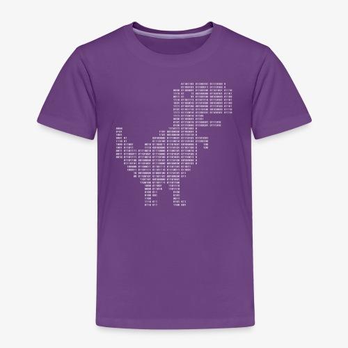 Google dinosaur   Dinosaur Binary   Dino   404 - Kids' Premium T-Shirt
