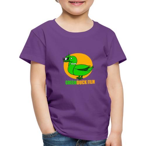 Greenduck Film Golden Sun Logo - Børne premium T-shirt