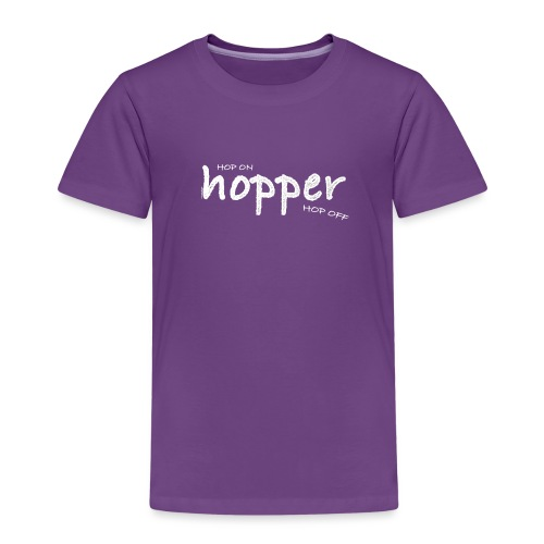 Hoppers Hop On and Off (white) - Camiseta premium niño