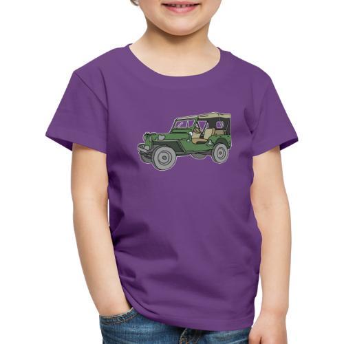 Grüner Geländewagen SUV - Kinder Premium T-Shirt