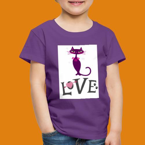 t-shirt cat love - Kids' Premium T-Shirt