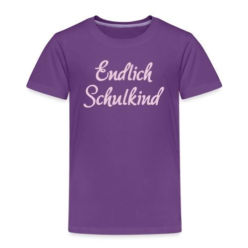 Endlich Schulkind, Schulanfang, Spruch - Kinder Premium T-Shirt