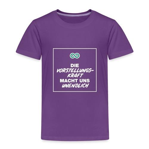 Die Vorstellungskraft macht uns unendlich - Kinder Premium T-Shirt