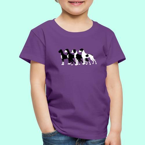 Schwarze Doggen - Kinder Premium T-Shirt
