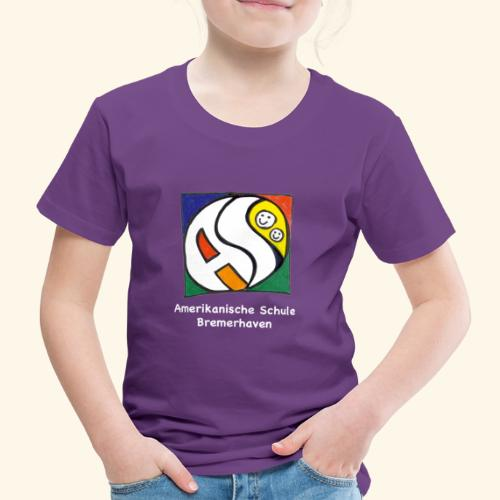 AS (weisse Schrift) - Kinder Premium T-Shirt