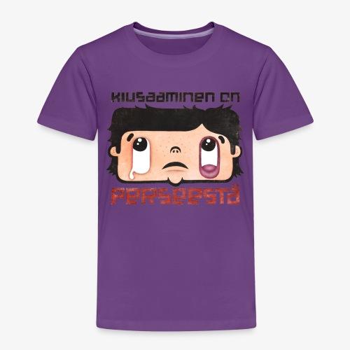 Kiusaaminen on perseestä - Lasten premium t-paita