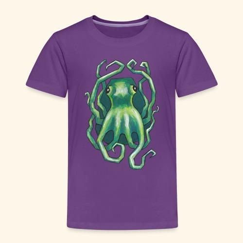 Grön bläckfisk - Premium-T-shirt barn