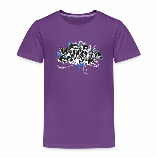 Dae 2Wear graffiti style ver01 black edt - Børne premium T-shirt