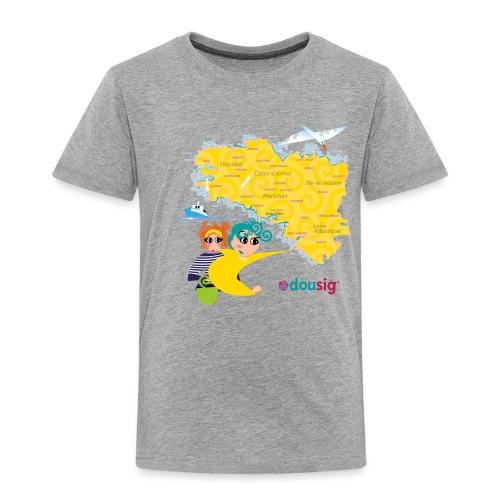 Carte de la Bretagne Dousig - T-shirt Premium Enfant