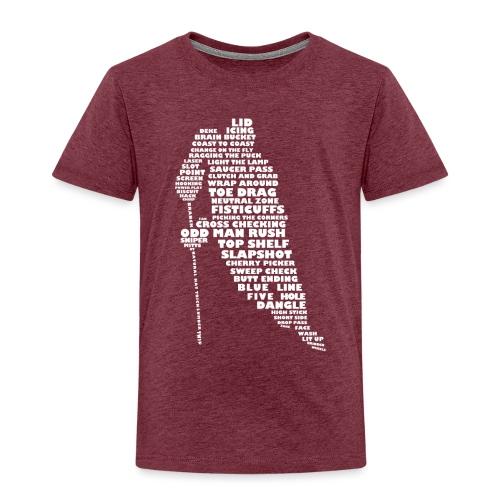 Language of Hockey (White) - Kids' Premium T-Shirt