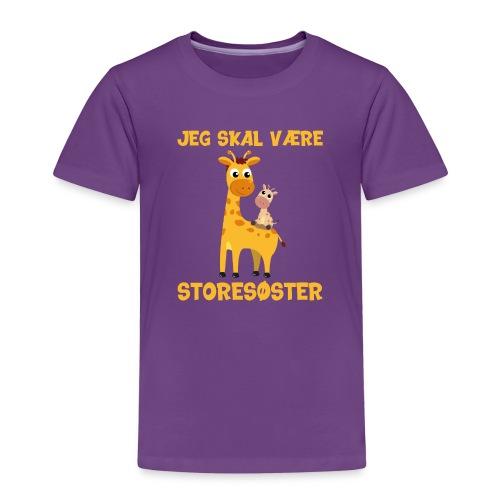 Jeg skal være storesøster - giraf giraffer - Børne premium T-shirt