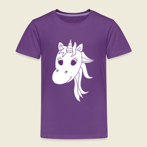 Einhorn Unicorna einfarbig weiß lila - Kinder Premium T-Shirt