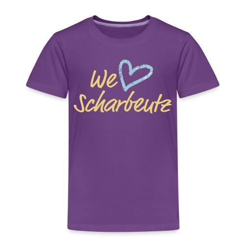 We love Scharbeutz - Logo sand/hellblau - Kinder Premium T-Shirt