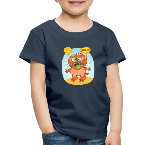 Bad summer sunburn for a funny dinosaur - Kids' Premium T-Shirt
