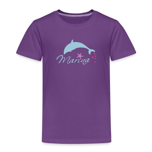 Delfin Maritim Marina - Kinder Premium T-Shirt