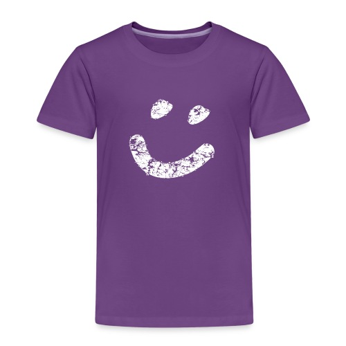Smiley vintage weiss png - Kinder Premium T-Shirt