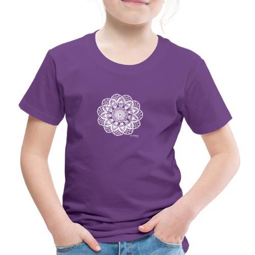 Granny´s Flower, valkoinen - Lasten premium t-paita