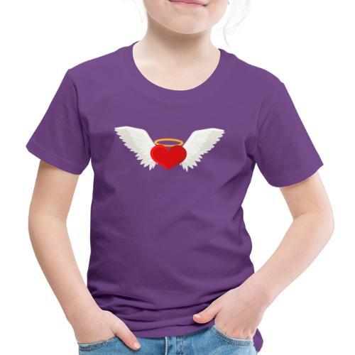 Winged heart - Angel wings - Guardian Angel - Kids' Premium T-Shirt