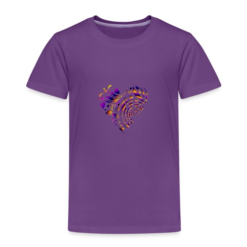 motif coeur multicolor - T-shirt Premium Enfant
