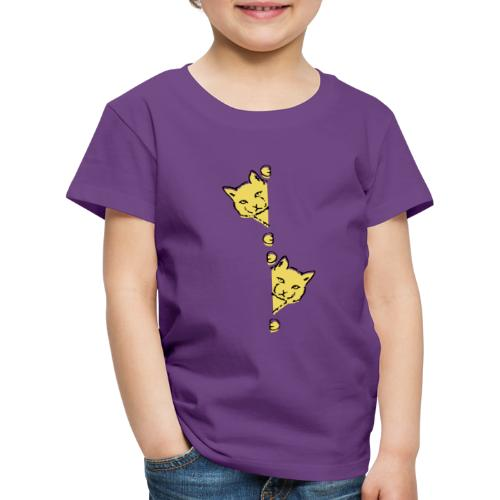 Två gula katter - Premium-T-shirt barn