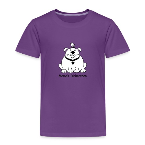 Dicker, süßer Hund s/w - Kinder Premium T-Shirt