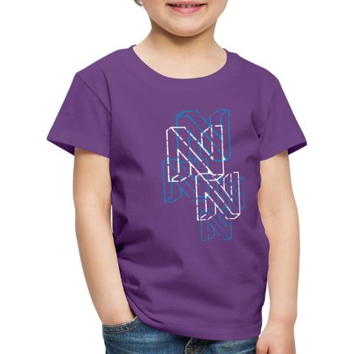 Neos logo trashed (neg) without URL, 2-color - Kids' Premium T-Shirt