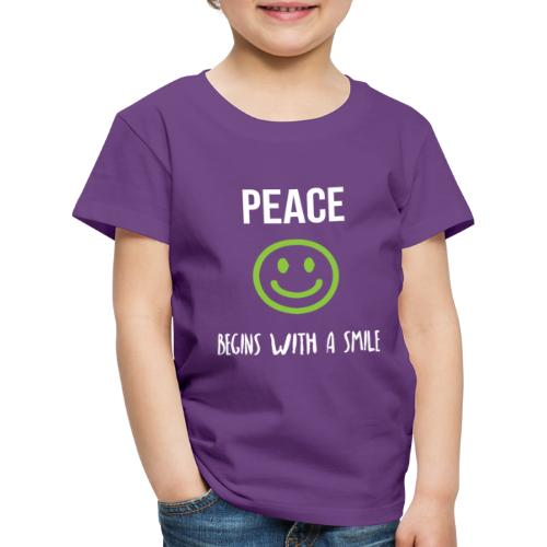 Peace Begins with a Smile - Kids' Premium T-Shirt