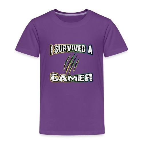 I Survived A Gamer | Lustige Gaming Sprüche - Kinder Premium T-Shirt