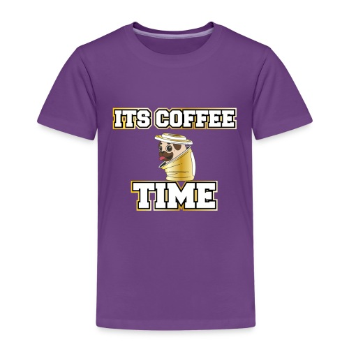 Mops im Kaffee Becher. Its Coffee Time Pug in Cup - Kinder Premium T-Shirt