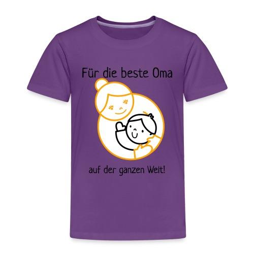 Für die beste Oma der Welt! gold schwarz - Kinder Premium T-Shirt