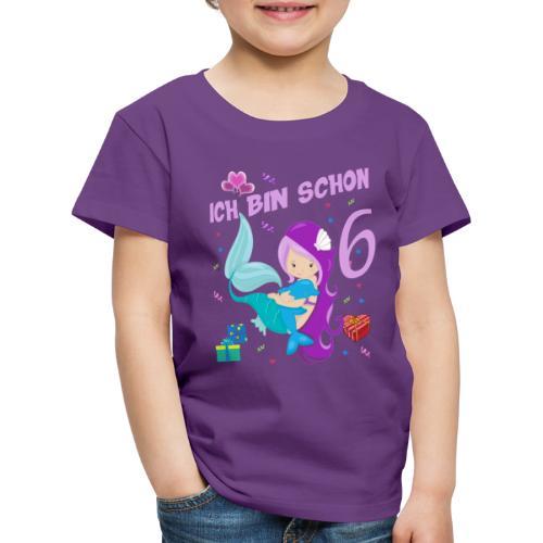 Delfin Geburtstagsshirt Mädchen Geburtstag 6 Jahre - Kinder Premium T-Shirt