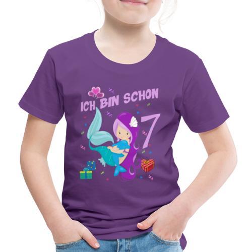 Delfin Geburtstagsshirt Mädchen Geburtstag 7 Jahre - Kinder Premium T-Shirt